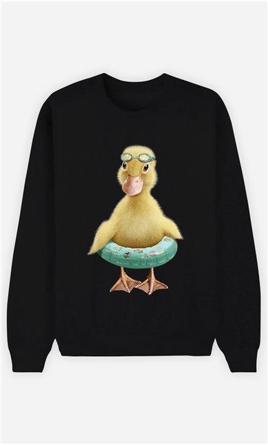 Sweat Noir Femme Duck