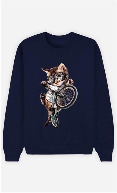 Sweat Bleu Femme BMX cat