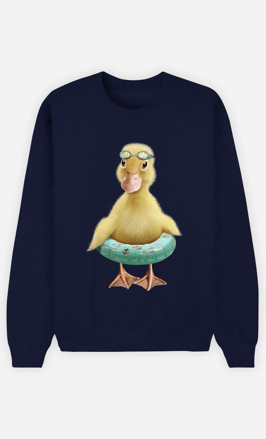 Sweat Bleu Femme Duck