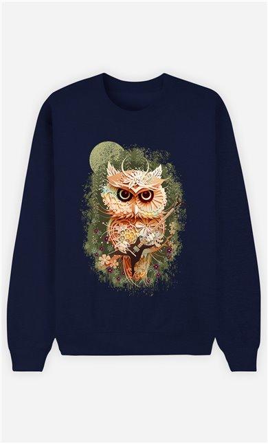 Sweat Bleu Femme Owl autumn