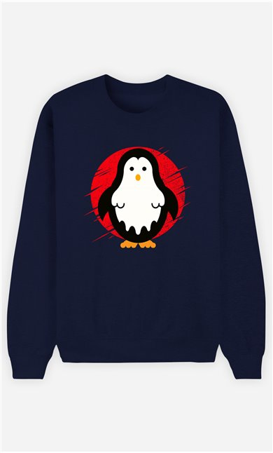 Sweat Bleu Femme Penguin ghost