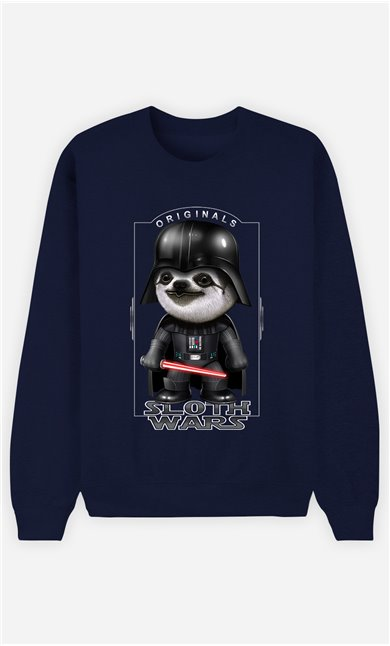 Sweat Bleu Femme Sloth Wars