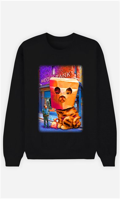 Sweat Noir Homme Giant cat robbery