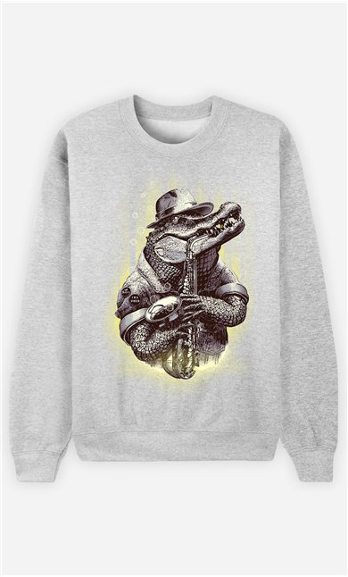 Sweat Gris Homme Croc rocker