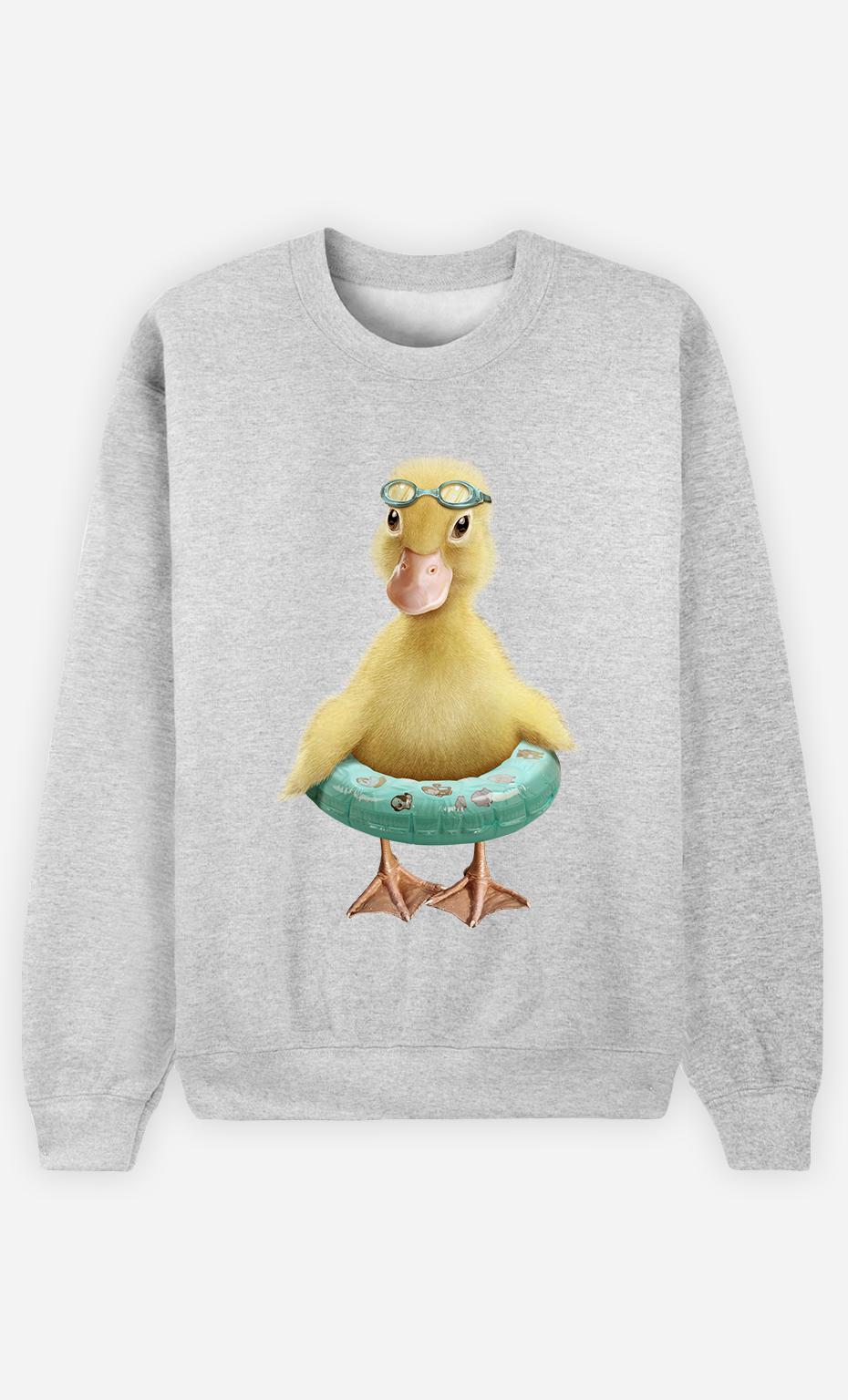 Sweat Gris Homme Duck