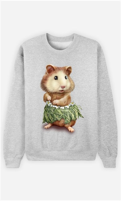 Sweat Gris Homme Hamster hula