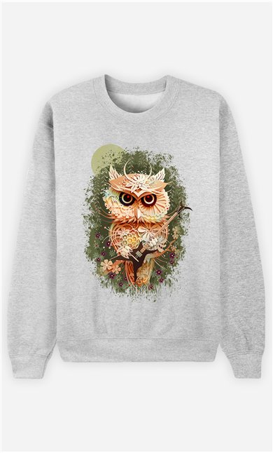 Sweat Gris Homme Owl autumn
