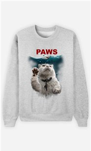 Sweat Gris Homme Paws