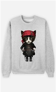 Sweat Gris Homme Pirate cat