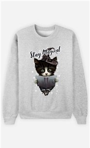Sweat Gris Homme Stay magical
