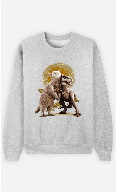Sweat Gris Homme Tom et Scary