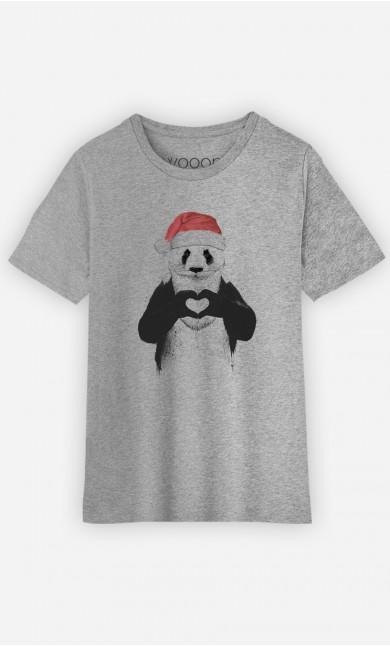 T-shier enfant Santa Panda