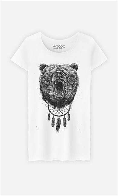 T-Shirt Femme Don't wake the bear