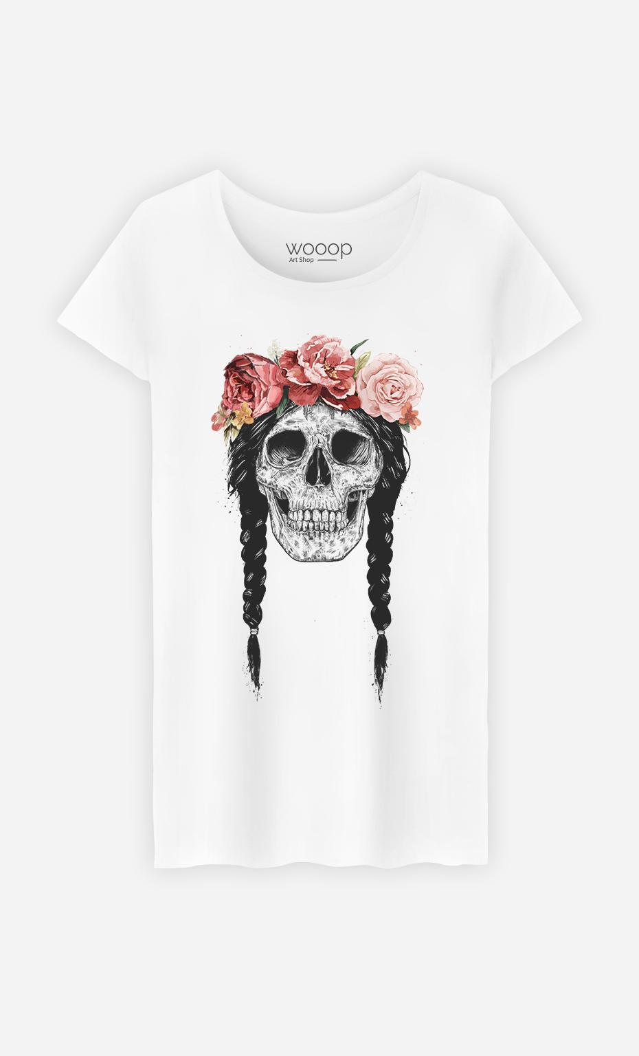 T-Shirt Femme Festival Skull