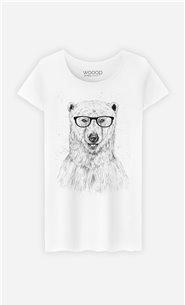 T-Shirt Femme Geek Bear