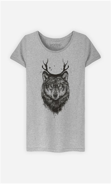 T-Shirt Femme Deer Wolf