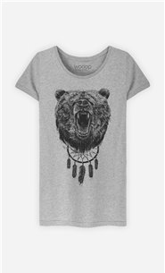 T-Shirt Femme Don't wake the bear