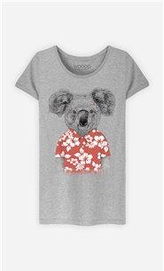 T-Shirt Femme Summer Koala Red