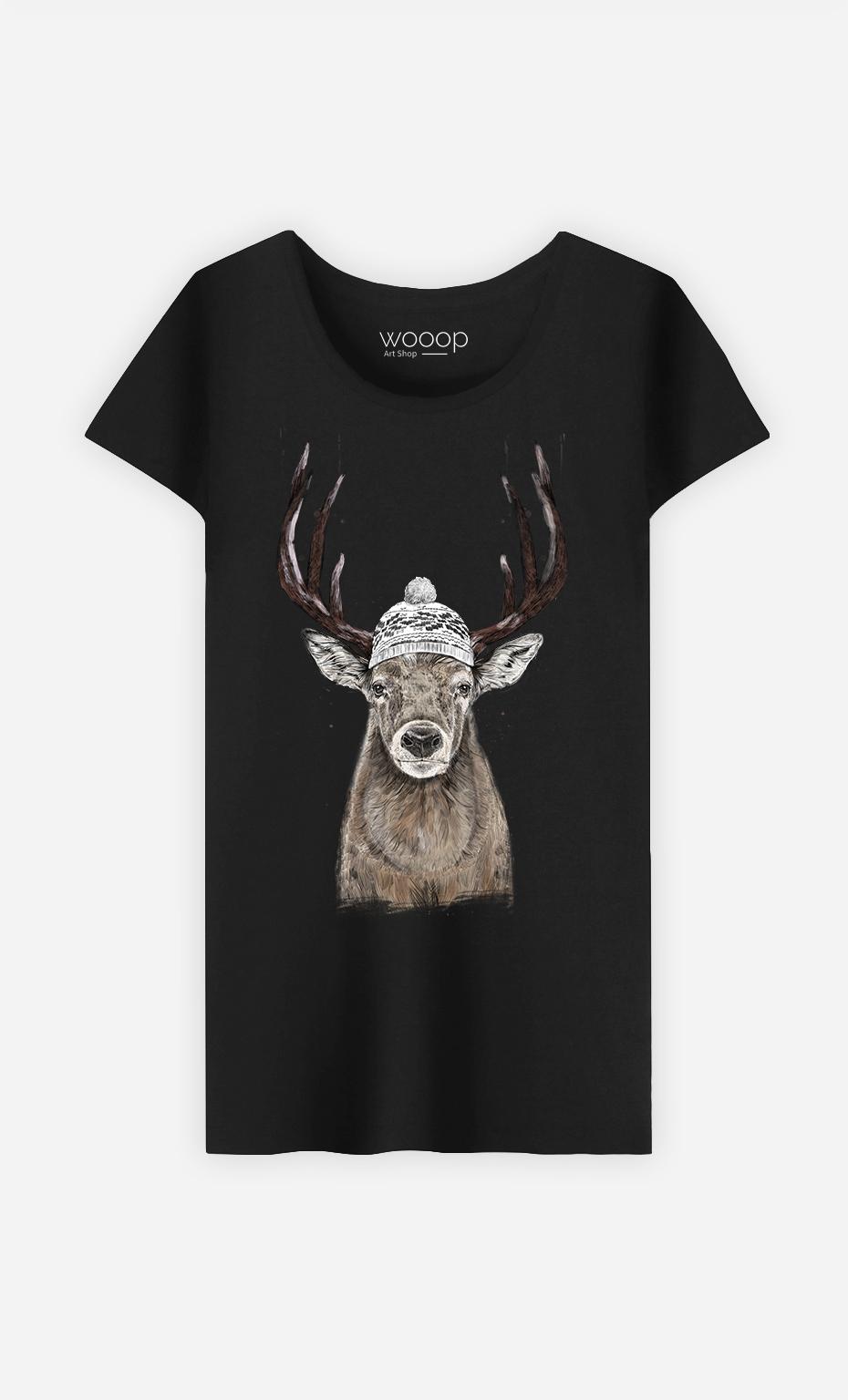 T-Shirt Femme Let's go outside