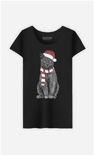 T-Shirt Femme Xmas Cat