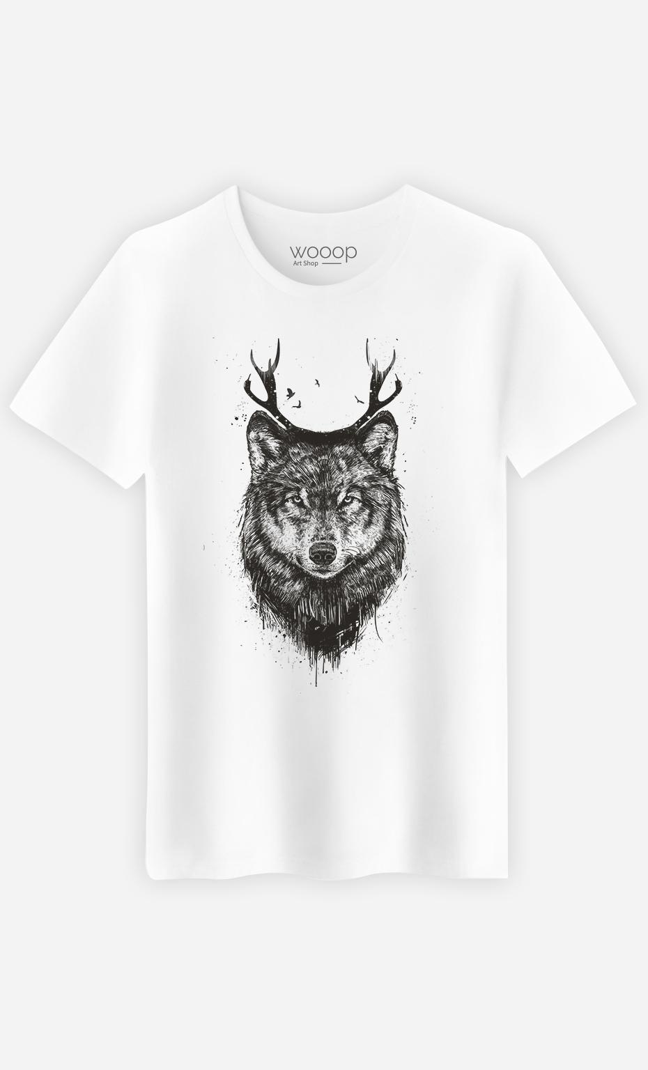 T-Shirt Homme Deer Wolf