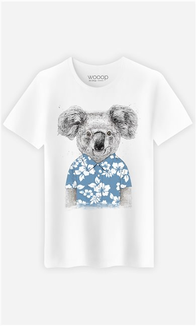 T-Shirt Homme Summer Koala Blue