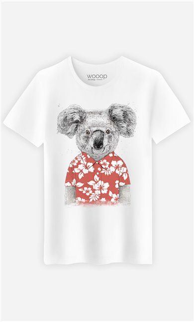 T-Shirt Homme Summer Koala Red