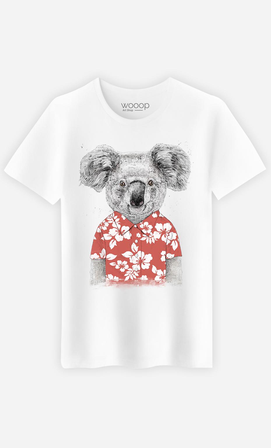 T-Shirt Homme Summer Koala Red