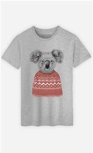 T-Shirt Homme Winter Koala Red