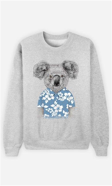 Sweat Femme Summer Koala Blue
