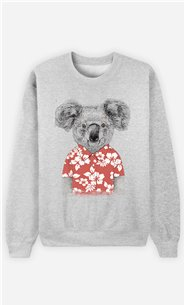 Sweat Femme Summer Koala Red