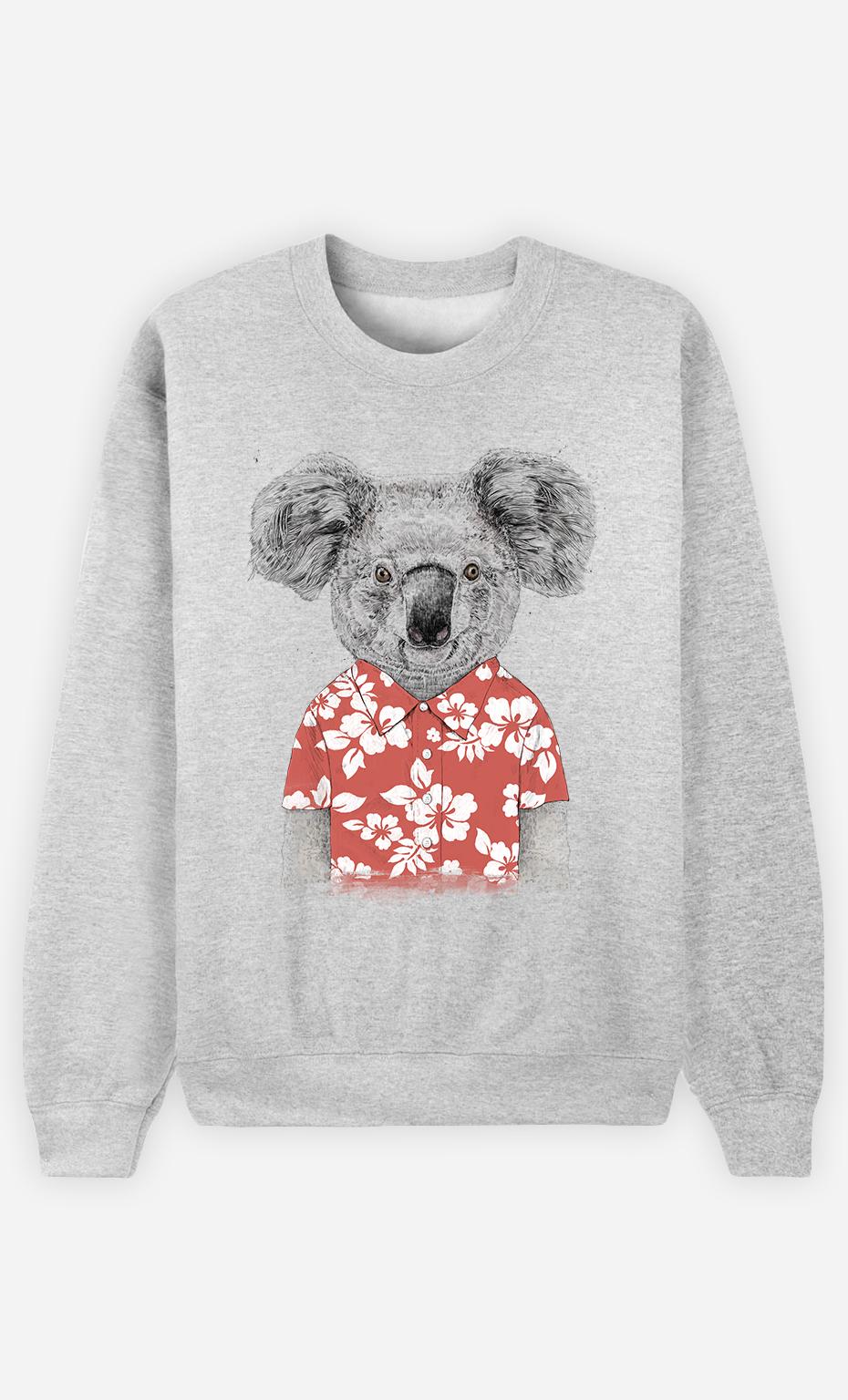 Sweat Femme Summer Koala Red