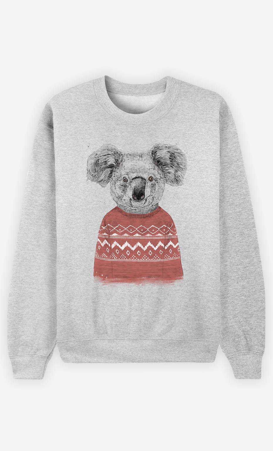 Sweat Femme Winter Koala Red