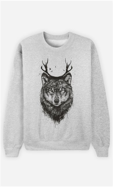 Sweat Homme Deer Wolf