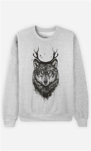 Sweat Homme Deer Wolf