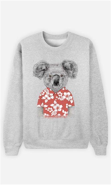 Sweat Homme Summer Koala Red