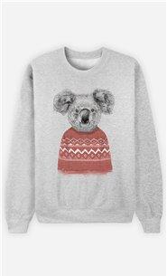 Sweat Homme Winter Koala Red