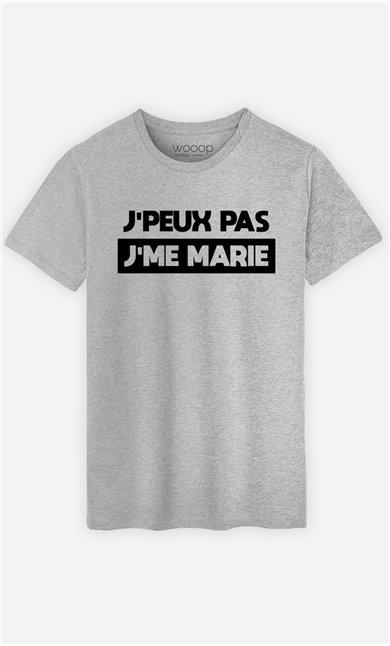 T-Shirt Homme J'peux pas j'me marie