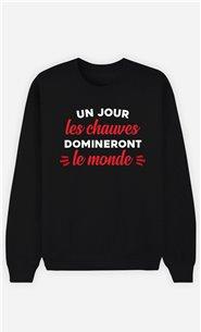 Sweatshirt Homme Un jour les Chauves domineront le Monde