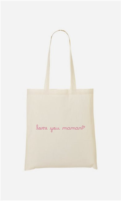 Tote bag Love you Maman