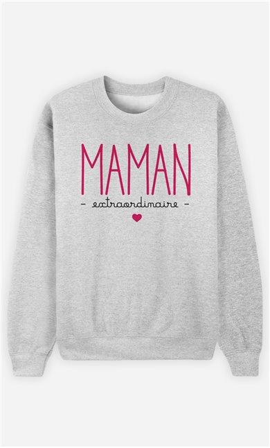 Sweatshirt Femme Maman Extraordinaire