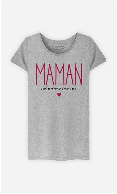 T-Shirt Femme Maman Extraordinaire