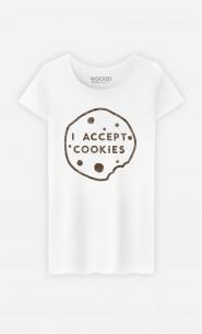 T-Shirt Femme I accept Cookies