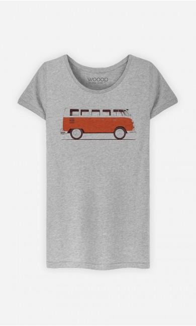 T-Shirt Femme Red Van