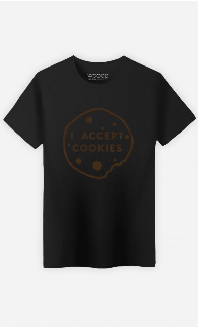 T-Shirt Homme I accept Cookies