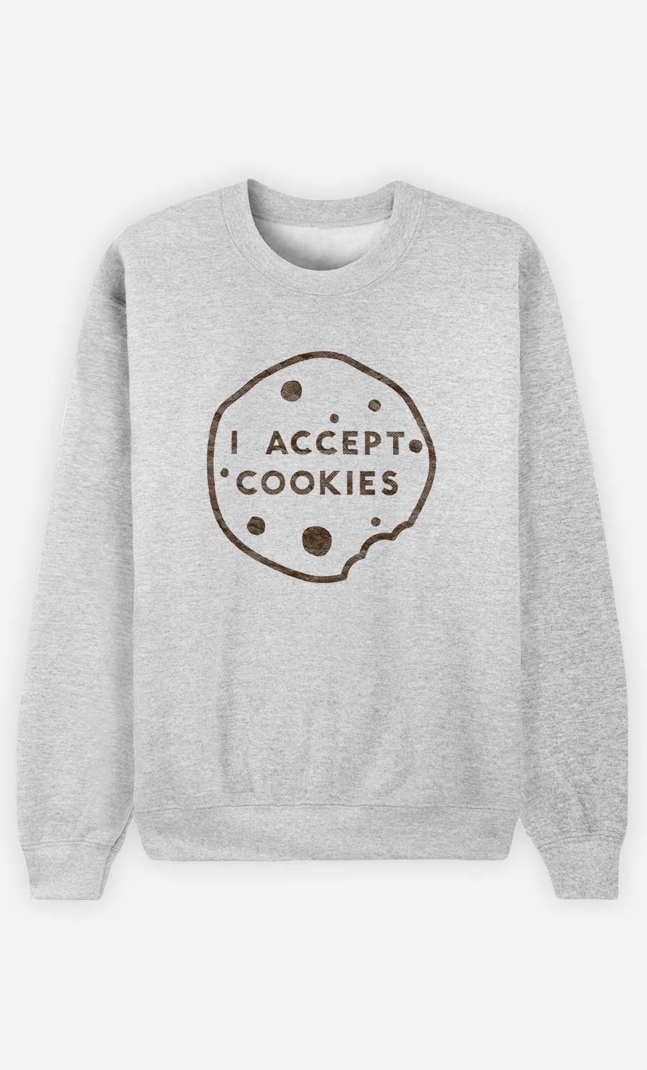 Sweatshirt Femme I accept Cookies