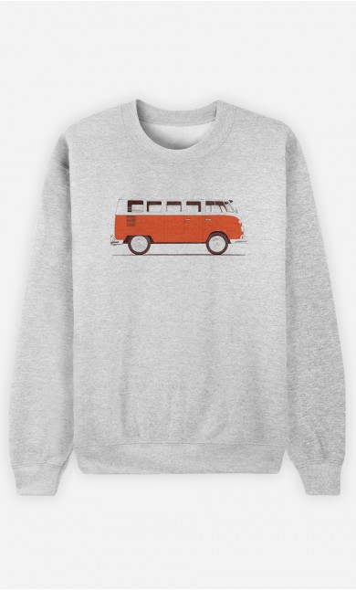 Sweatshirt Femme Red Van