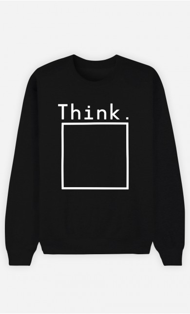 Sweatshirt Femme Think