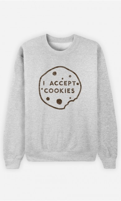 Sweatshirt Homme I accept Cookies