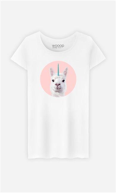 T-Shirt Femme Alpaca Unicorn